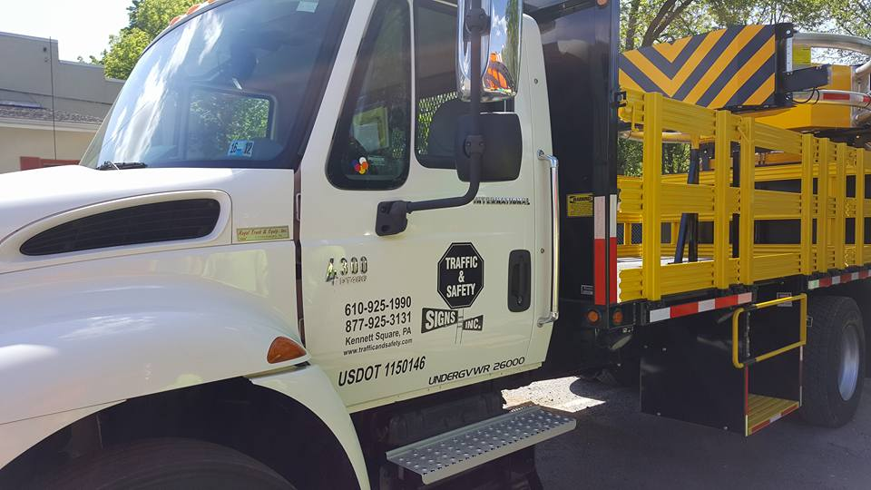 Traffic & Safety Signs Company Truck