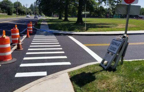 Fresh Crosswalk Pavement Markings